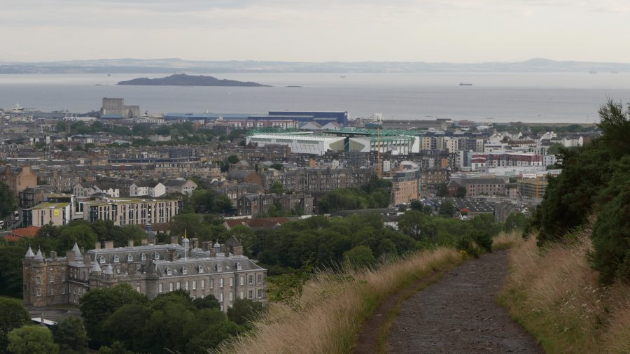 Holyrood Palace and the Firth of Forth, Edinburgh, Scotland
