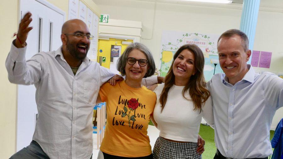Shamash Alidina, Yvonne Fuchs, Elisabeth Scarlett, John Purkiss at the Museum of Happiness, Camden, London